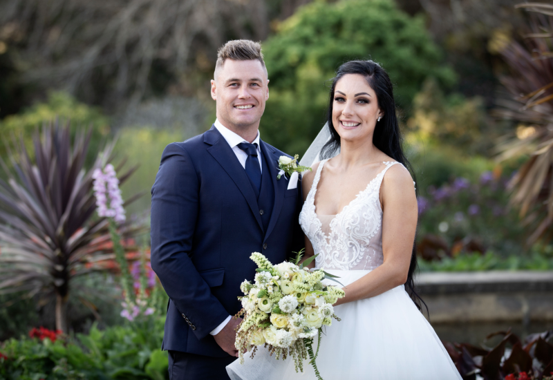 Chris and Vanessa on their wedding day on MAFS