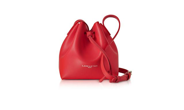 Red bucket bag (Photo: Lancaster/Italist)
