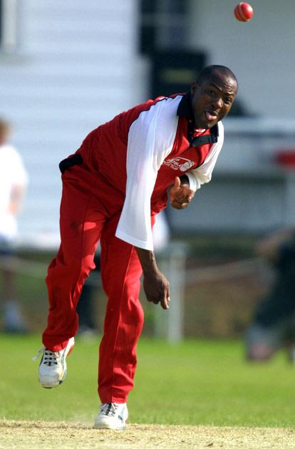 26 May 2001.  West Indian cricketer Brian Lara in action playing for the Lashings-Intertops team during their match against the Sutton Valance school at the Sutton Valance cricket ground, Kent. [DIGITAL IMAGE]. Mandatory Credit: Craig Prentis/ALLSPORT