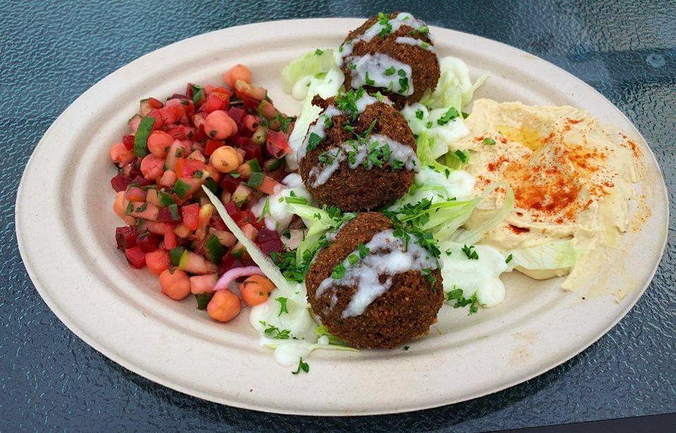 """<p><strong><a href=""""https://www.yelp.com/biz/shawarma-guys-san-diego"""" rel=""""nofollow noopener"""" target=""""_blank"""" data-ylk=""""slk:Shawarma Guys"""" class=""""link rapid-noclick-resp"""">Shawarma Guys</a>, San Diego</strong></p><p>""""Food and service were both spectacular. Husband and I tried a variety of dishes here including: beef Shawarma pita, falafel pita, hummus, plain falafel, and tabouli salad. All of the flavors were so complex and blended extremely well together."""" – Yelp user <a href=""""https://www.yelp.com/user_details?userid=pXcRuMUmT07td7oMbrabdQ"""" rel=""""nofollow noopener"""" target=""""_blank"""" data-ylk=""""slk:Cathee C."""" class=""""link rapid-noclick-resp"""">Cathee C.</a></p><p>Photo: Yelp/<a href=""""https://www.yelp.com/user_details?userid=5lwvM4q3MdVN1xm9ZuOO3A"""" rel=""""nofollow noopener"""" target=""""_blank"""" data-ylk=""""slk:Jason A."""" class=""""link rapid-noclick-resp"""">Jason A.</a></p>"""