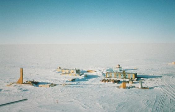 The Vostok weather station: one of the coldest (and driest) places on earth (Wikimedia)
