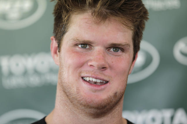 New York Jets quarterback Sam Darnold had some impressive moments in his NFL preseason debut. (AP)