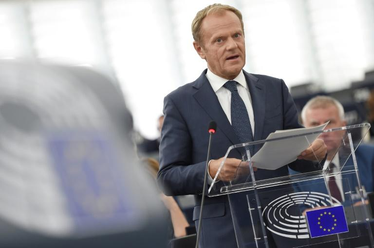 """""""On other issues such as the Irish question, or the framework for economic cooperation, the UK's proposals will need to be reworked and further negotiated,"""" EU Council President Donald Tusk said"""