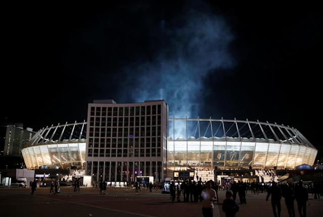 Soccer Football - Champions League Final - Real Madrid v Liverpool - Kiev, Ukraine - May 26, 2018 General view outside the stadium after the match REUTERS/Valentyn Ogirenko