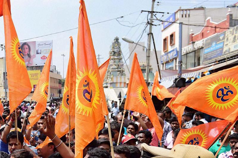 RSS Exhibits All Symbols of Terror Outfit, Alleges Congress MLA in Poll-bound MP