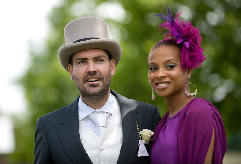 Shane Lynch and Sheena White attend Ladies Day of Royal Ascot at Ascot Racecourse on June 16, 2011 in Ascot, England. (Photo by Samir Hussein/WireImage)