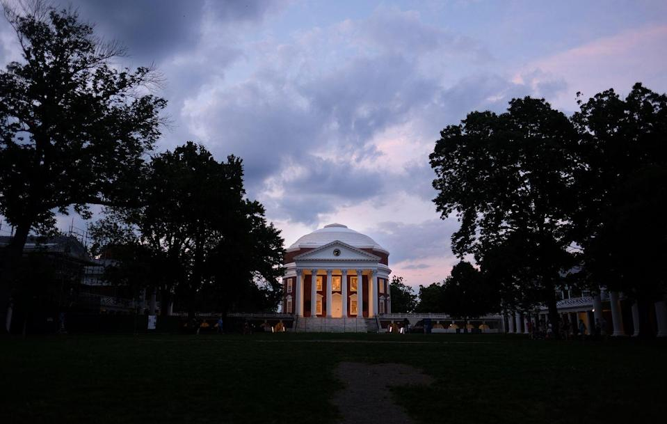 <p>Thomas Jefferson built this campus, and designed it around a beautiful rotunda with a great lawn leading up to it. Mountains can be viewed in the distance. The university was named a UNESCO world heritage site in 1987, an honor given to the most culturally significant landmarks in the world. </p>