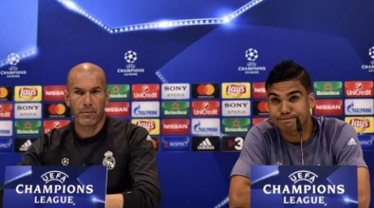Zidane e Casemiro - Coletiva do Real Madrid
