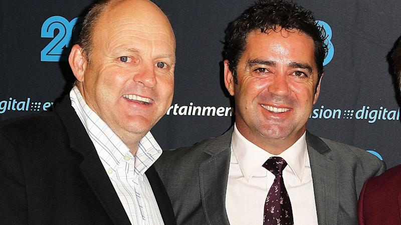 Pictured here, former close mates Billy Brownless and Garry Lyon.