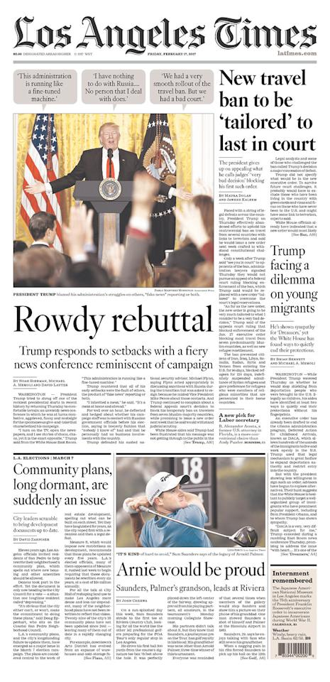 <p>Los Angeles Times, published in Los Angeles, Calif. (newseum.org) </p>