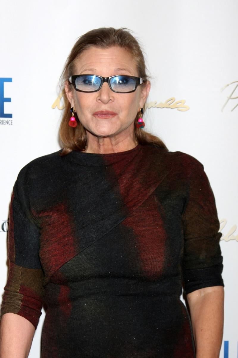 Actress Carrie Fisher on the red carpet
