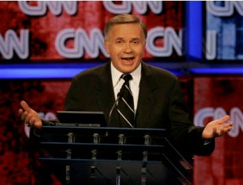 Tom Tancredo speaks during a 2007 presidential debate.