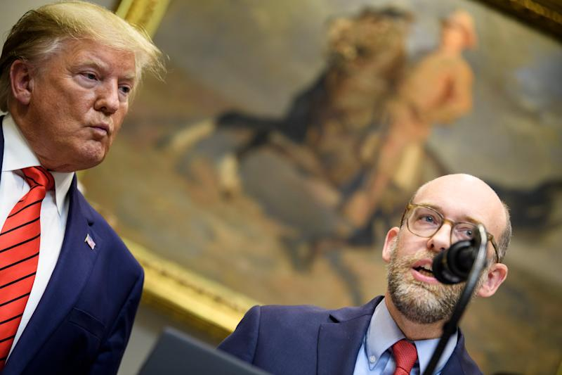 Russell Vought with Donald Trump