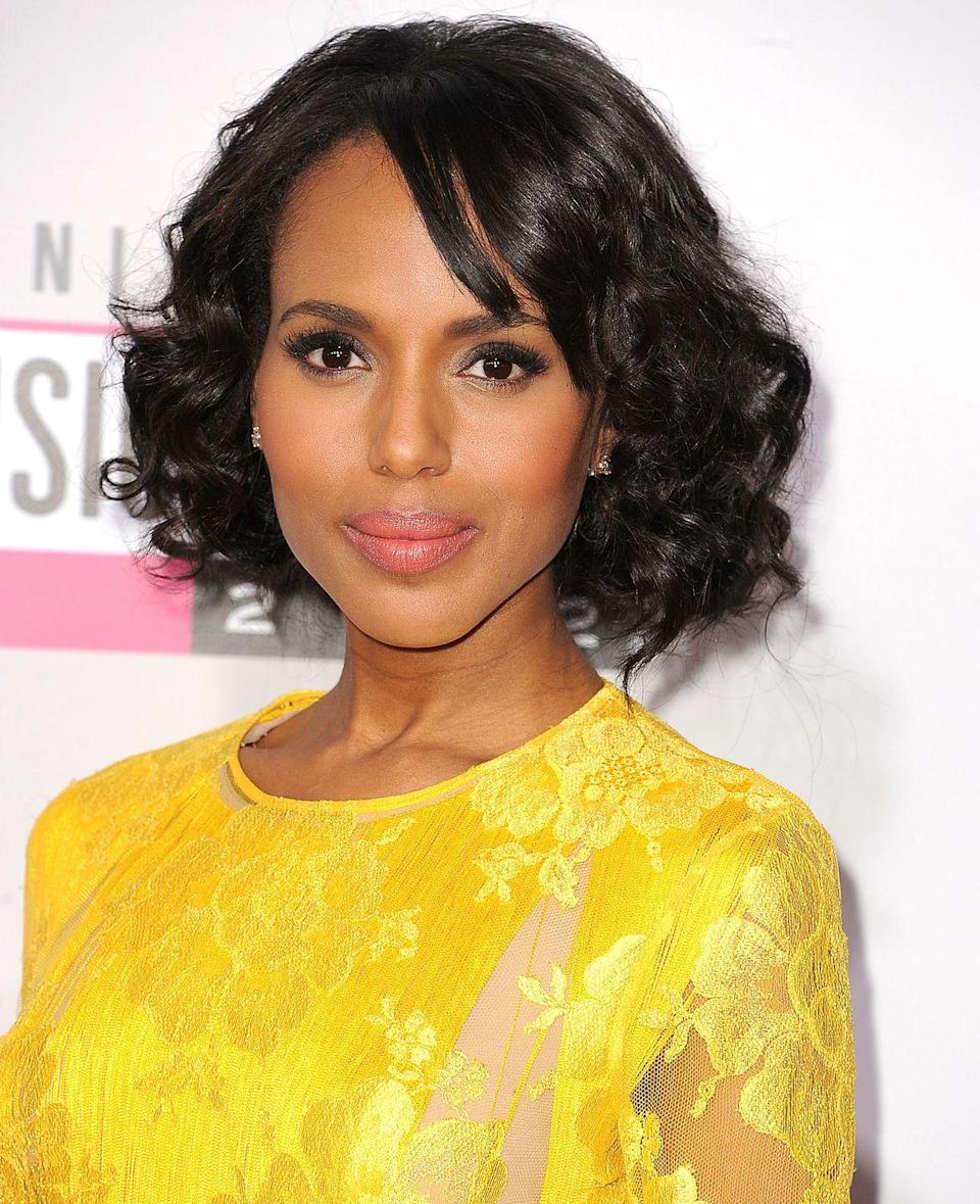 <p>An elegant look that frames and flatters your bone structure in all the right spots, actress <strong>Kerry Washington</strong>'s cute bob with bangs is especially great for heart-shaped faces.</p>