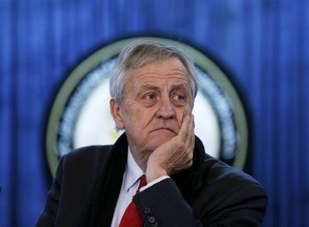 FILE PHOTO: Nicholas Haysom, the then head of the U.N. Assistance Mission in Afghanistan, listens to a question during a news conference in Kabul, Afghanistan February 14, 2016. REUTERS/Mohammad Ismail/Files