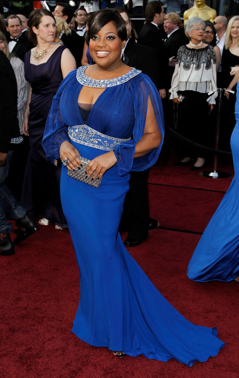 Television personality Sherri Shepherd arrives before the 84th Academy Awards on Sunday, Feb. 26, 2012, in the Hollywood section of Los Angeles. (AP Photo/Matt Sayles)