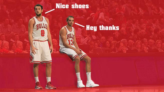 Marco Belinelli and Joakim Noah talk shoes