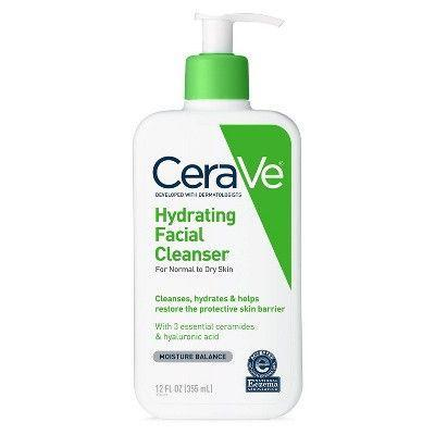 "<p><strong>CeraVe</strong></p><p>target.com</p><p><strong>$9.89</strong></p><p><a href=""https://www.target.com/p/cerave-hydrating-facial-cleanser-for-normal-to-dry-skin/-/A-81616326"" rel=""nofollow noopener"" target=""_blank"" data-ylk=""slk:Shop Now"" class=""link rapid-noclick-resp"">Shop Now</a></p>"