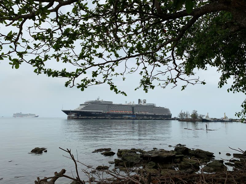 Cruise ship MS Westerdam is seen at dock in the Cambodian port of Sihanoukville, Cambodia