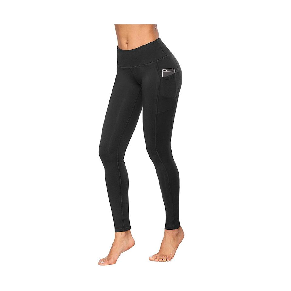 """<p>Ever wish your favorite pair of leggings had pockets to hold your stuff? Try <a href=""""https://www.amazon.com/Fengbay-Control-Workout-Running-Leggings/dp/B07KBXJHSD/ref=as_li_ss_tl?ie=UTF8&linkCode=ll1&tag=rsblackleggingsrcarhart0419-20&linkId=80321a2291d03a78bb64be3dbcbbc043&language=en_US"""" target=""""_blank"""">this pair by Fengbay</a>. The flattering bottoms feature an outer pocket that's big enough to hold your phone, plus a hidden pocket in the waistband that can store smaller items like money or keys. The sleek leggings have an impressive 4.5-star rating on Amazon. One reviewer said, """"These black leggings have enough compression that they hold everything in without being too tight. They stretch without being see-through and they have pockets! What else could you ask for? Oh, and they are super soft and comfortable.""""</p> <p><strong>To buy:</strong> from $10; <a href=""""https://www.amazon.com/Fengbay-Control-Workout-Running-Leggings/dp/B07KBXJHSD/ref=as_li_ss_tl?ie=UTF8&linkCode=ll1&tag=rsblackleggingsrcarhart0419-20&linkId=80321a2291d03a78bb64be3dbcbbc043&language=en_US"""" target=""""_blank"""">amazon.com</a>.</p>"""