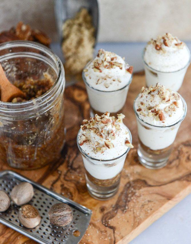 "<strong>Get the <a href=""http://www.howsweeteats.com/2014/11/no-bake-bourbon-pecan-pie-cheesecakes/"" target=""_blank"">No-Bake Bourbon Pecan Pie Cheesecakes recipe</a> from How Sweet It Is</strong>"