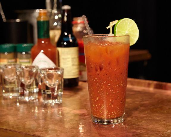 """The """"Bloody Moony"""" cocktail is a spiced-up Bloody Mary."""
