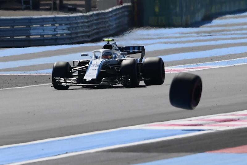 In an event-filled session on Friday William's driver Sergey Sirotkin found himself racing a wheel that had come off Sergio Perez's Force India car