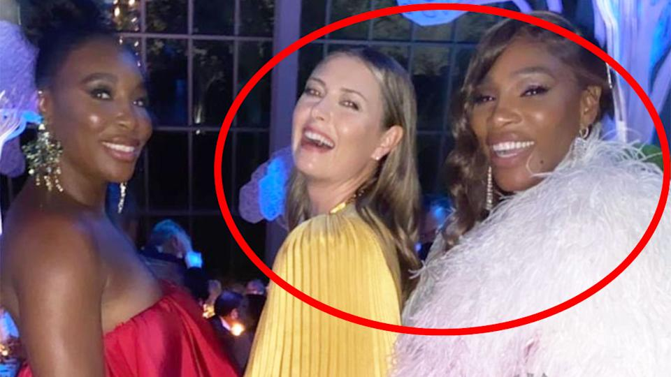 Pictured here, Maria Sharapova and Serena Williams laugh it up at the 2021 Met Gala.