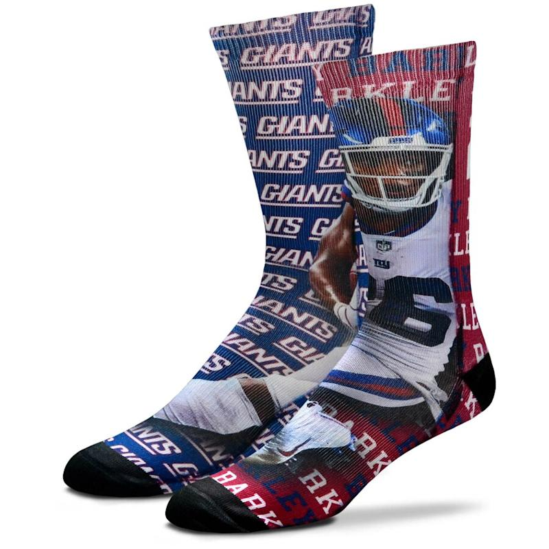 Saquon Barkley New York Giants Say My Name Crew Socks