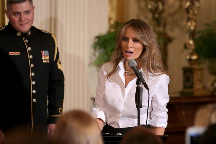Melania Trump, speaking on Friday