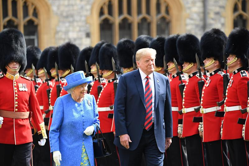 President Trump had an audience with the Queen during his visit to the UK in July 2018 [Photo: PA]