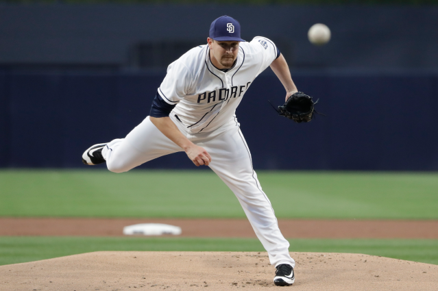 "<a class=""link rapid-noclick-resp"" href=""/mlb/players/8410/"" data-ylk=""slk:Trevor Cahill"">Trevor Cahill</a>, jumping off the wire (AP)"