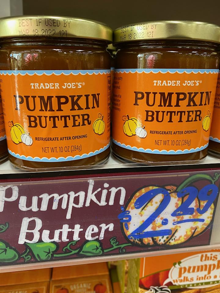 <p>Put a jar of Trader Joe's Pumpkin Butter on the table next to the rolls for a sweeter smear than traditional butter - it's totally dairy-free! </p>
