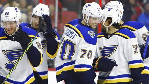 On Blues' fourth line, center role is subject to change