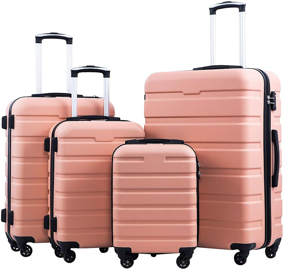 <p>If you're looking to upgrade your entire luggage collection, this is what you need. This set has four different sizes for all your travel requirements, and as far as price points go, definitely falls on the affordable side. It's basically four items for the price of one.</p>