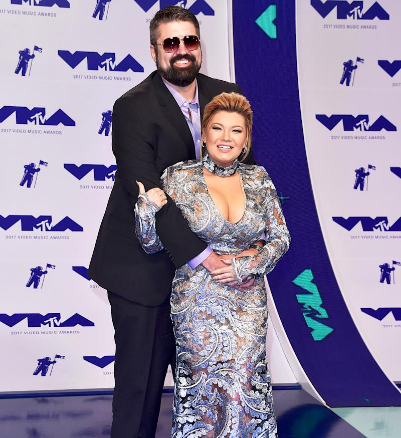 Boyfriend and girlfriend: Andrew Glennon and Amber Portwood red carpet debut at the MTV Video Music Awards