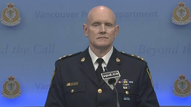 Vancouver Police Chief Constable Adam Palmer apologized for Justice Selwyn Romilly's wrongful detainment at a press conference on May 17, 2021.