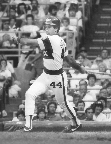 In this undated photo provided by the Chicago White Sox, Mark Gilbert bats during a baseball game at Comiskey Park in Chicago. The former White Sox outfielder is on deck for a new position: If confirmed by the Senate, he'll become the U.S. ambassador to New Zealand. The U.S. State Department said it couldn't find any other record of a former major league player having served as an ambassador. (AP Photo/Chicago White Sox)