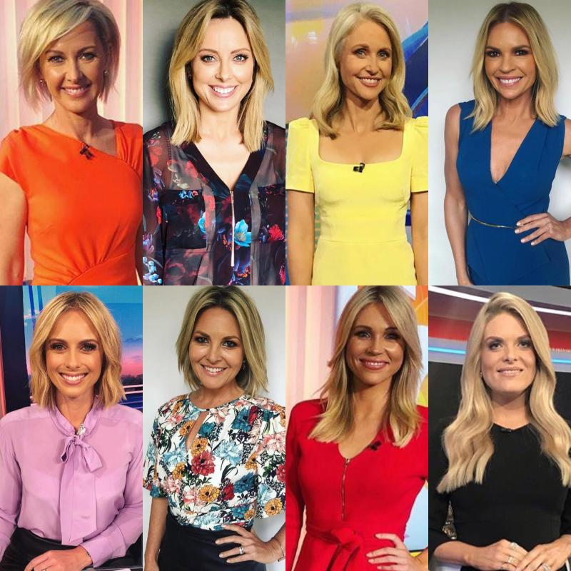 Some of Channel Nine's popular female TV hosts. Photos: Instagram/channel9style