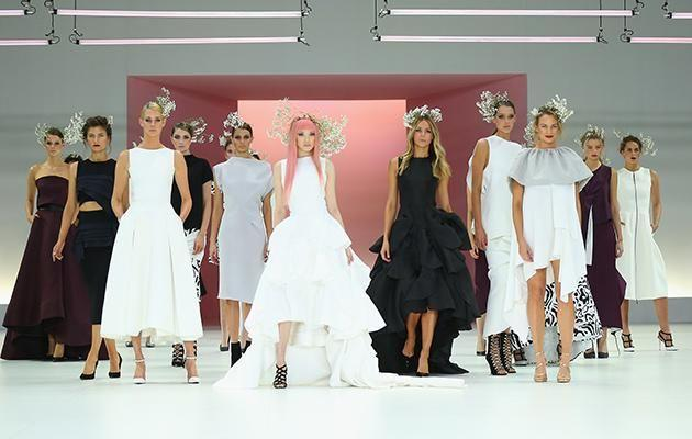 Ly joined Jennifer Hawkins and other models on the runway.
