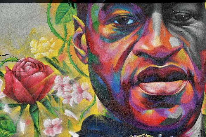 A mural of George Floyd is seen on a wall along Colfax Avenue on June 7, 2020, in Denver. Floyd's killer, former police officer Derek Chauvin, was found guilty of murder on Tuesday. (Photo: Helen H. Richardson/MediaNews Group/The Denver Post via Getty Images)