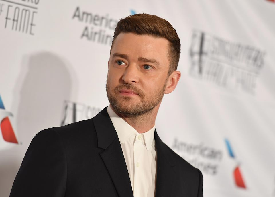 US singer-songwriter Justin Timberlake attends the 2019 Songwriters Hall Of Fame Gala at The New York Marriott Marquis on June 13, 2019 in New York City. (Photo by Angela Weiss / AFP)        (Photo credit should read ANGELA WEISS/AFP via Getty Images)