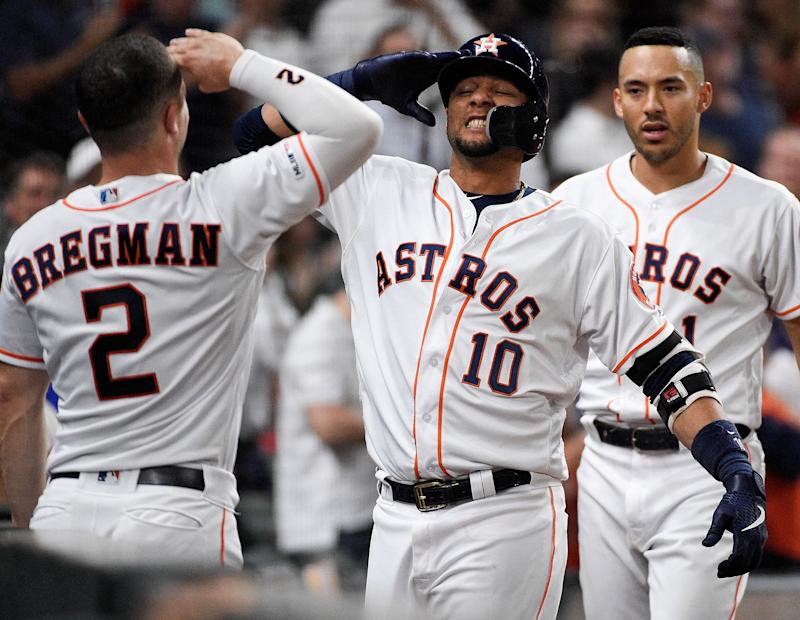 The Astros, Twins and Dodgers are the top 3 teams in MLB after Memorial Day. (AP Photo/Eric Christian Smith)