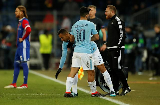Soccer Football - Champions League - Basel vs Manchester City - St. Jakob-Park, Basel, Switzerland - February 13, 2018 Manchester City's Danilo comes on as a substitute to replace Sergio Aguero Action Images via Reuters/Andrew Boyers