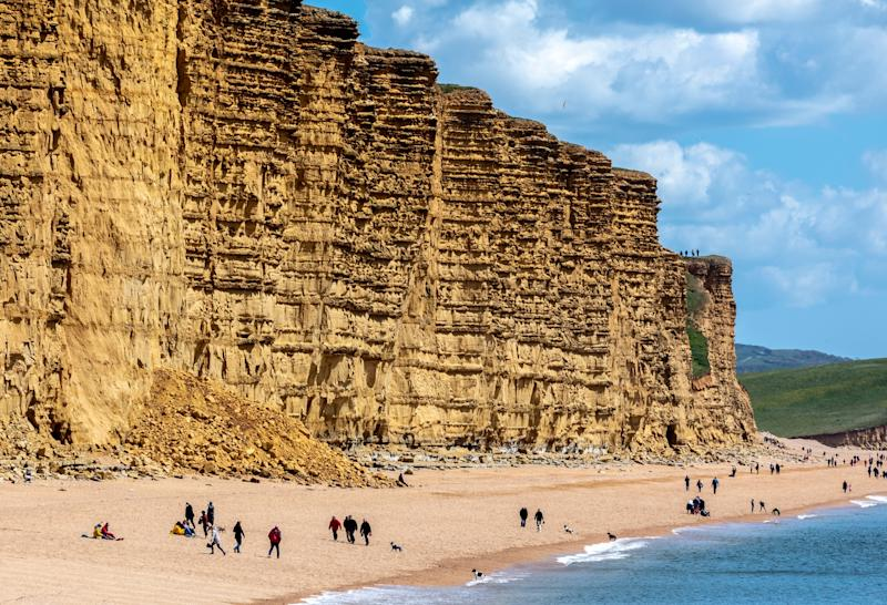 Hunt for fossils in Dorset - getty