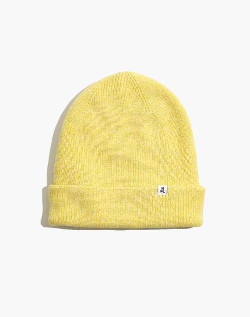 <p>This yellow <span>Madewell Recycled Cotton Cuffed Beanie</span> ($35) makes us smile.</p>