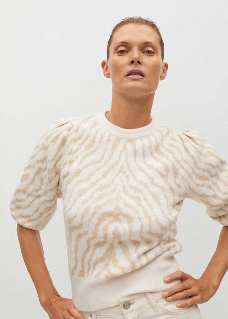 <p>Go for some animal print with the <span>Mango Zebra Sweater</span> ($60).</p>