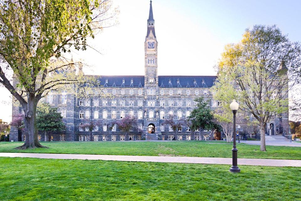 <p><strong>Established in 1789</strong></p><p><strong>Location: Washington, D.C. <br></strong></p><p>Georgetown is the oldest Catholic and Jesuit college in the country. U.S. presidents, Supreme Court Justices, and other high-ranking government officials are among the alumni of this prestigious institution. </p>