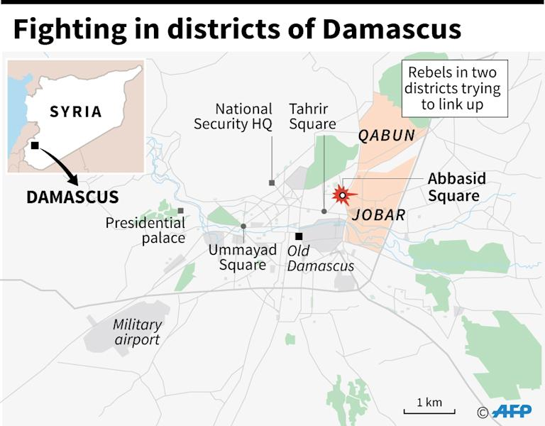 Fighting in districts of Damascus (AFP Photo/Jonathan JACOBSEN, Paz PIZARRO)
