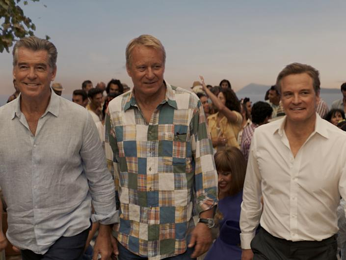 Pierce Brosnan, Stellan Skarsgård and Colin Firth in 'Mamma Mia! Here We Go Again'© 2018 Universal City Studios Productions LLLP. All Rights Reserved.